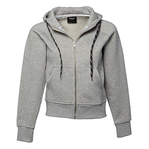 Tee Jays - Sweatshirt à capuche et fermeture zippée - Femme Gris