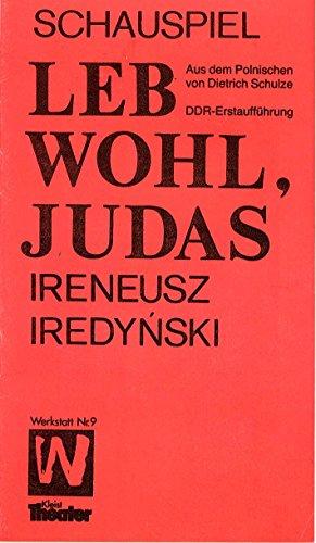 Programmheft DDR-Erstaufführung Leb wohl, Judas Programmheft Nr. 1 des Spieljahres 1988 (Judas Kostüm)
