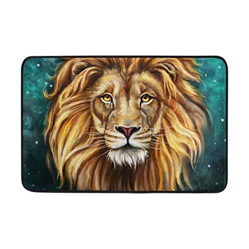 deyhfef King Lion Aslan Doormat, Entry Way Indoor Outdoor Door Rug with Non Slip Backing 31.5 X 19.5 Inch