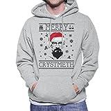 Breaking Bad Heisenberg Merry Chrystmeth Christmas Men's Hooded Sweatshirt