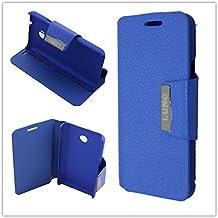Misemiya ® - Funda Orange Luno / Huawei Ascend Y330 Agenda Soporte - Azúl