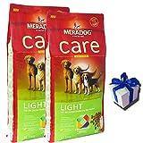 MERA Dog 2 x 12,5 kg CARE LIGHT Hundefutter für übergewichtige Hunde + Geschenk