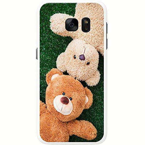 Teddybär-Freunde spielen auf dem Gras Hartschalenhülle Telefonhülle zum Aufstecken für Samsung Galaxy S7 (G930F, 2016 Version)