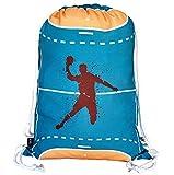HECKBO Mochila niñas y niños - con dibujos de balonmano - se puede lavar a máquina - 40x32 cm - para el jardín de infancia - bolsa de deporte, bolsa para balonmano