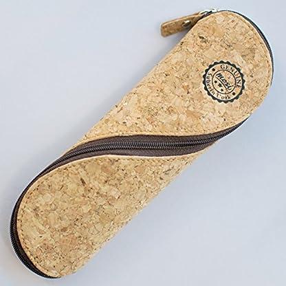 5163xMrpEvL. SS416  - Estuche de gafas delgadas, estuche de lápices y cartuchera ~ Estuche suave de corcho portugués, estilo vintage, hecho a mano
