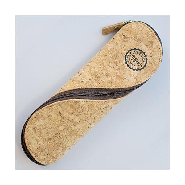 Estuche de gafas delgadas, estuche de lápices y cartuchera ~ Estuche suave de corcho portugués, estilo vintage, hecho a…