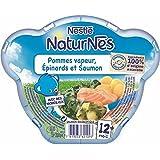 Nestlé Naturnes pommes de terre vapeur épinard et saumon assiette 230g dès 12 - ( Prix Unitaire ) - Envoi Rapide...
