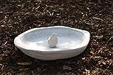 AmaCasa Vogeltränke Vogelbad Vogelbecken Wassertränke Tränke Wasserschale Stein Grau