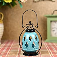 BJLL Hollow Aroma Fornace Candlestick scandinavo minimalista decorazione domestica ceramica Hanging Candle Night Light ( colore : B )