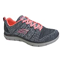 Light and dark grey marl lace up trainer with a bright coral lace this is the perfect trainer for all girls.  Memory foam and dual lite feel provides extra comfort during exercise or for everyday wear.