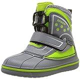 Crocs AllCast Waterproof Boot GS, Unisex-Kinder Warm gefüttert Gummistiefel Kurzschaft Stiefel & Stiefeletten, Schwarz (Charcoal/Volt Green 0A3), 37/38 EU