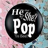 VoilaLove Sexe Reveal Ballon confettis - 36 'XL - Sexe Reveal Party, Baby Shower,...