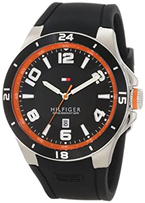 Tommy Hilfiger 1790861 - Reloj de pulsera hombre, caucho, color negro