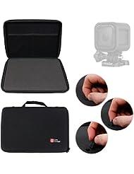 Mallette de rangement personnalisable rigide pour GoPro Hero4 Session (Black & Silver CHDHS-101-EU) Caméra embarquée 8 Mpix Wifi Bluetooth