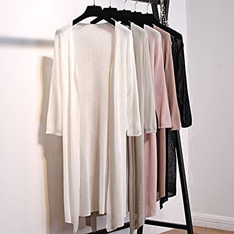 Xuanku In Der Lange Jacke, Stricken Strickjacke In Langen, Langarm Pullover Eis Seidemean Code,White
