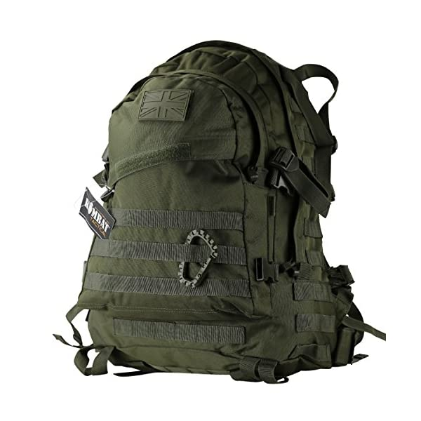 Kombat UK  Spec-Ops Unisex Outdoor Molle Assault Pack Backpack available in Olive Green - 45 Litres 1