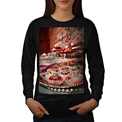 Sugar Cup Cakes Sweet Dessert Women NEW Black XL Sweatshirt | Wellcoda