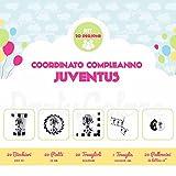 Kit Tavola Compleanno per 20 persone Juventus Zebrotta bianconera- Piatti - Bicchieri - Tovaglioli - Tovaglia - Palloncini