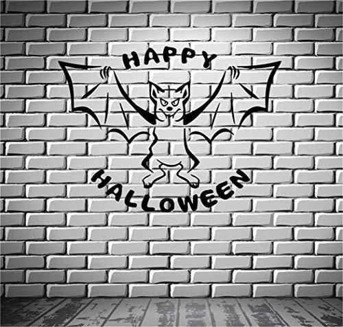 wandaufkleber 3d Wandtattoo Wohnzimmer Happy Halloween Bat Night Horror unheimlich (Halloween Happy Unheimlich)