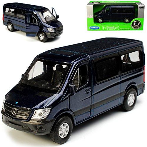 Welly Mercedes-Benz Sprinter W906 Personen Transporter Blau Schwarz Modell 2006 Ab Facelift 2013 ca 1/43 1/36-1/46 Modell Auto