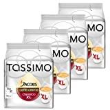 Tassimo Jacobs Caffè Crema XL, Rainforest Alliance Certified, Pack of 4, 4 x 16 T-Discs