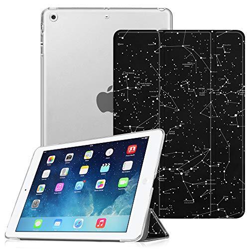 Fintie Hülle für iPad Air - Ultradünne Superleicht Schutzhülle mit Transparenter Rückseite Abdeckung Smart Case mit Auto Schlaf/Wach Funktion (Z- Sternbild)