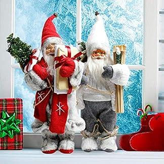 cineman Muñeca de Papá Noel, Santa Claus con Barba, Gafas, Gorro, Juguete de Peluche