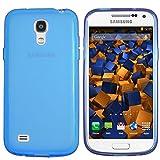 mumbi TPU Hülle Samsung Galaxy S4 mini Schutzhülle transparent blau