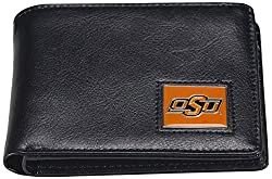 NCAA Oklahoma State Cowboys Men's Leather RFiD Safe Travel Wallet, 4.25 x 3.25