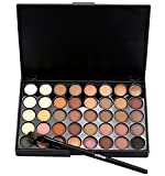 40 Farben Lidschatten Palette mit Pinsel Set | ZEZKT-Beauty Portabel Mehrfunktional Make-Up Gehäuse Nudes Make-Up Set Professional (A)