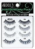 ARDELL Natural Variety Pack, 4 Paar Echthaarwimpern in 4 verschiedenen Styles, wiederverwendbare Lashes für einen natürlichen Look