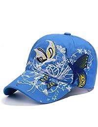 Qchomee Sombrero de béisbol con diseño de mariposa y mariposa para mujer 60e884f64d2