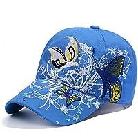 Qchomee Sombrero de béisbol con diseño de mariposa y mariposa para mujer, ideal para viajes