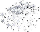Neviti Shimmering Snowflake Confetti and Diamonds, Silver, 28 g