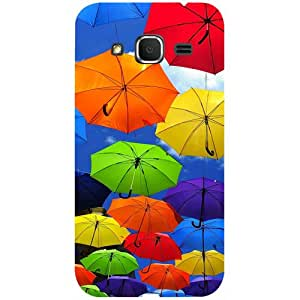 Casotec Colorful Umbrellas Design 3D Printed Hard Back Case Cover for Samsung Galaxy Core Prime