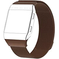 TAOtTAO Magnetic Lock Milanese Loop Stainless Steel Replacement Strap For Fitbit Ionic