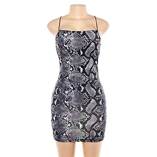 Rocke Sexy schlanke Schlange Kleid, Feminine schlanke Bodysuit One-Shoulder-Träger, (Color : Photo Color, Size : L) Verführerisches One-shoulder -
