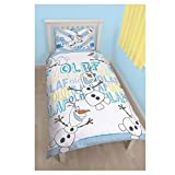 Kinder Disney Olaf bedruckt wendbar Rotary Single Bettwäsche-Set, Disney Frozen Olaf Print, 135CM X 200CM