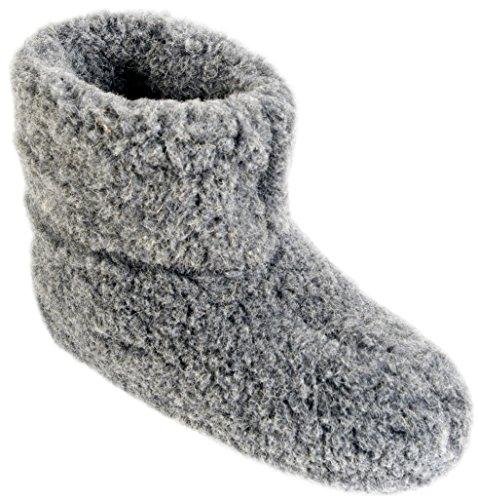 Herren Damen Hausschuhe Reine Wollhausschuhe - Hüttenschuhe Stiefel Warm Winter Wolle Warme Winterhausschuhe Schafswolle Mit Fell Schafwolle oLe (37)