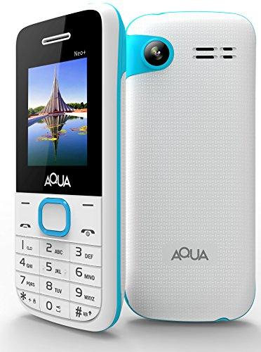 Aqua Neo Plus - 2000 mAh Battery Dual SIM Basic Keypad Mobile Phone with Vibration Feature - White
