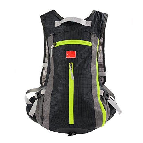 Leichte Schulter Outdoor Reise Wandern Bergsteigen Atmungsaktive Wasserdichte Wanderrucksack Black