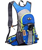lethigho impermeable Packsack 15L exterior bolsa para mochila de hidratación Ultralight–Mochila de equitación bicicleta running escalada vejiga de agua de senderismo viaje Mochila Azul azul