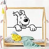 TYLPK Classique Les Aventures De Tintin Vinyle Cuisine Stickers Muraux Papier Peint Imperméables Stickers Muraux Home Accessoires Noir L 43cm X 68cmL 43cm X 68cm