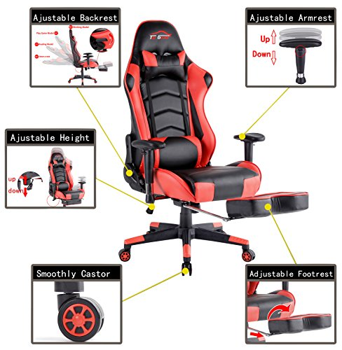 Cool Top Gamer Pc Gaming Chair Video Game Chairs For Computer Lamtechconsult Wood Chair Design Ideas Lamtechconsultcom