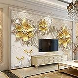 Yirenfeng Carta da parati del fondo della TV Carta da parati modellata del salone Carta da parati del film Murale decorativo-300X200cm
