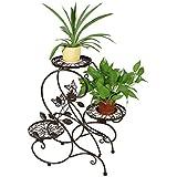 """HLC Bastidor metálico de bonsáis, decoraciones caseras,con 3 bandejas, Estilo retro, diseño moderno """"S"""",Color Cobrizo"""