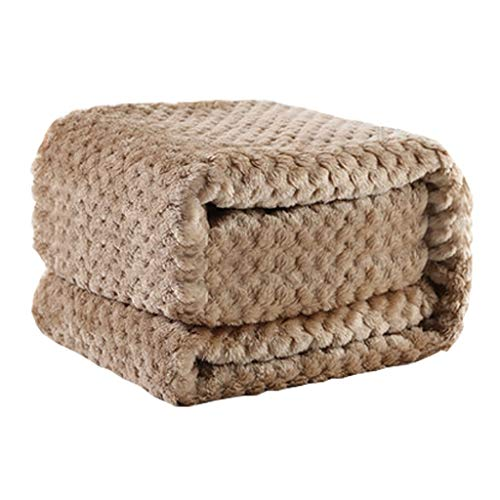 ke, Hundedecke, waschbare Decke, Schnee-Samt, geeignet für mittlere Hunde und Katzen, fünf Farben, 70cm * 90cm, 110cm * 140cm (Farbe : Khaki, größe : Small) ()