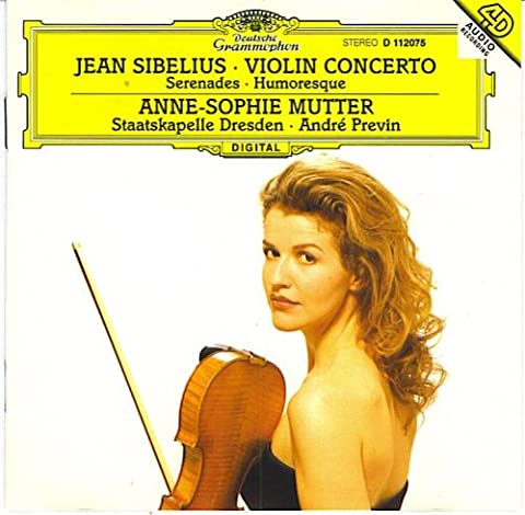 Sibelius: Violinkonzert Serenaden Humoreske Annie-Sophie Mutter/Staatskapelle Dresden/Andre Previn (UK Import)