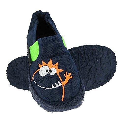 GALLUX - Kinderschuhe Hausschuhe lustige Kinder Slipper Dunkelblau