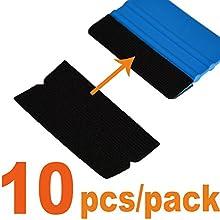 Ehdis® 10x4.8cm Accesorios Felt Squeegee Tela borde del rasguño suave libre seco mojado de fieltro raspador para el coche de envolver 3M escobilla de goma 10PCS / paquete (no incluido escobilla de goma)